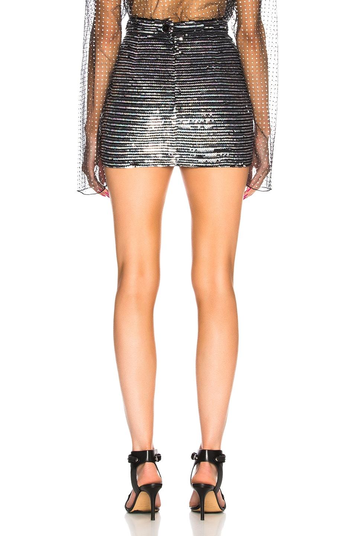 Image 3 of Ashish for FWRD Sequin Mini Skirt in Horizontal Disco Stripe