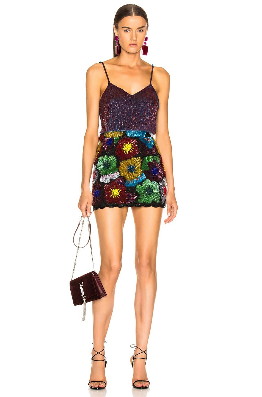 Image 4 of Ashish Psychedahlia Beaded Mini Skirt in Multi