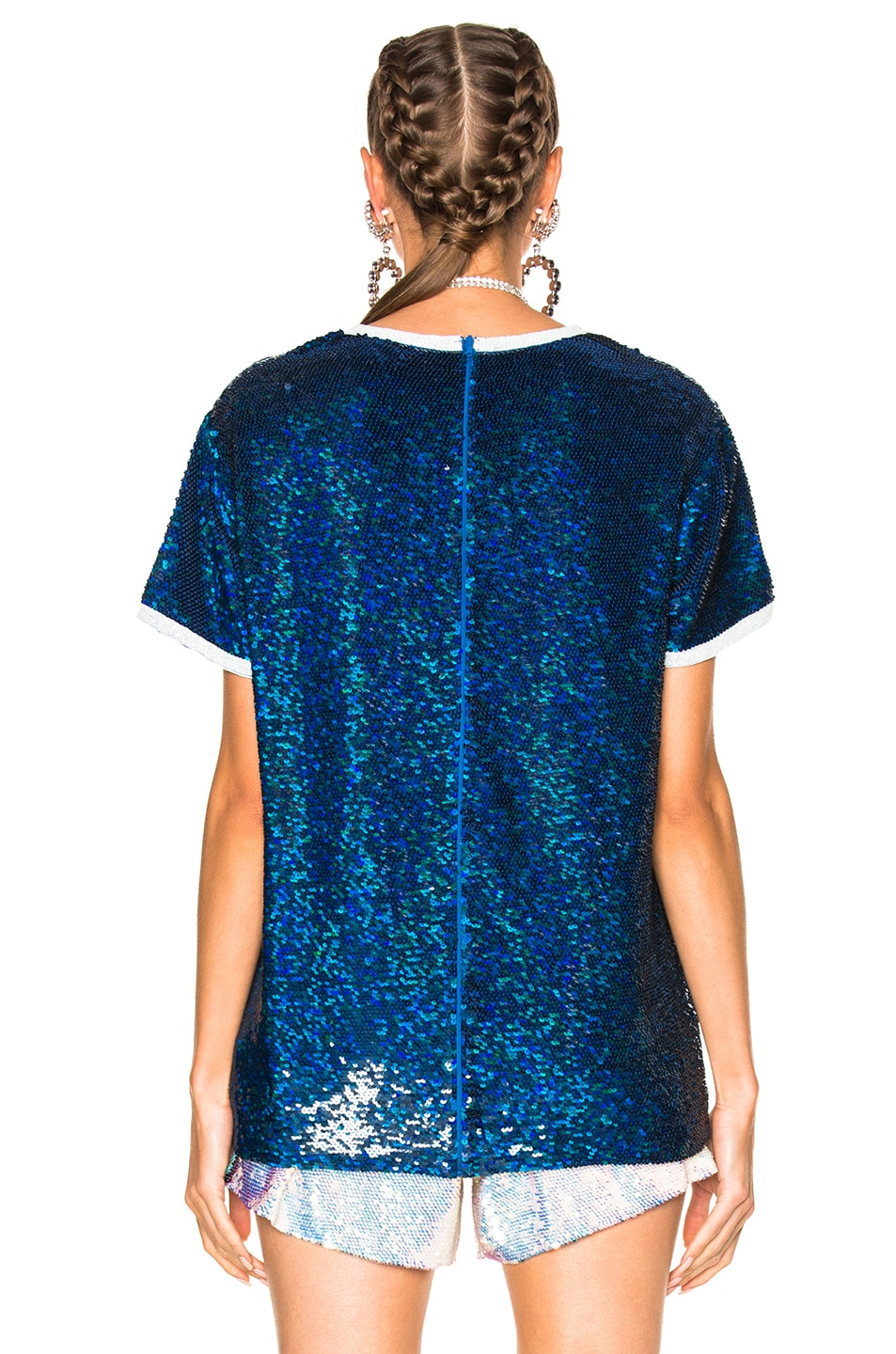 Image 4 of Ashish Your Wish is My Command T-Shirt in Blue & White