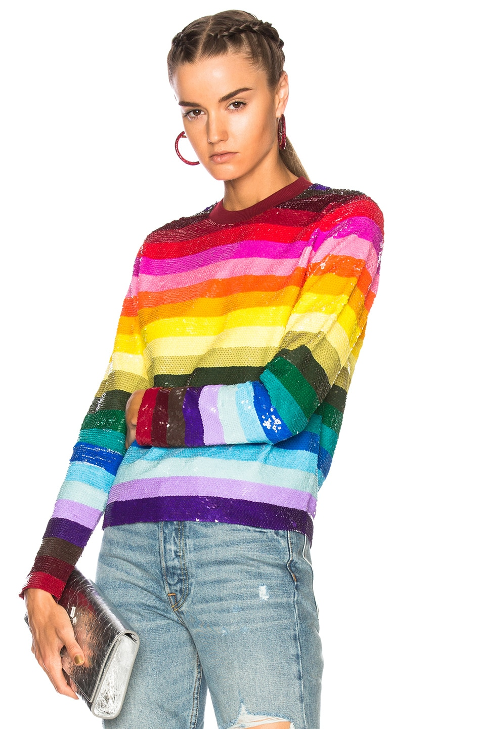 Image 1 of Ashish Long Sleeve Top in Graphic Rainbow