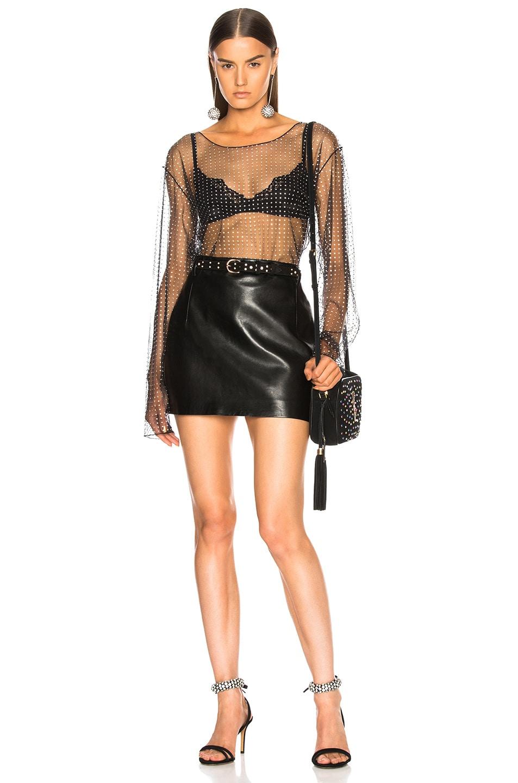 Image 5 of Ashish Sheer Long Sleeve Top in Black