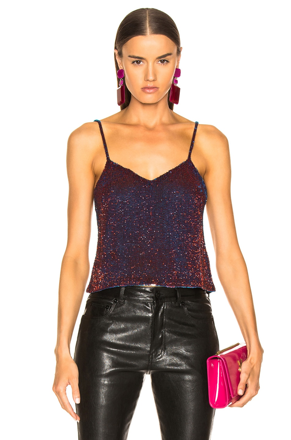 Image 1 of Ashish Beaded Camisole in Amethyst