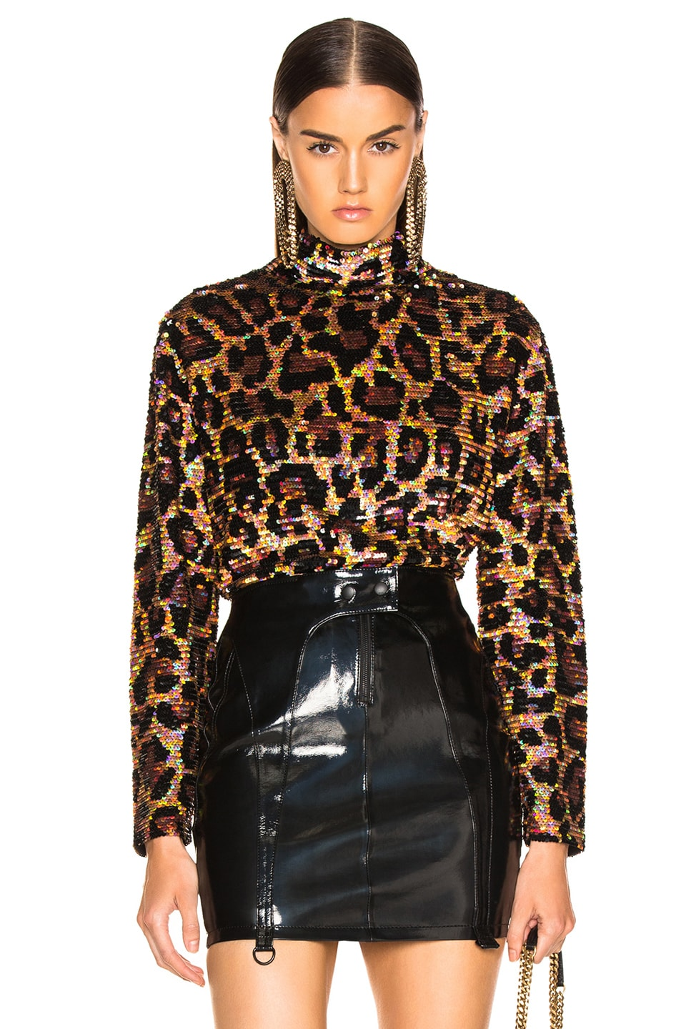 Image 1 of Ashish Sequin Top in Classic Leopard
