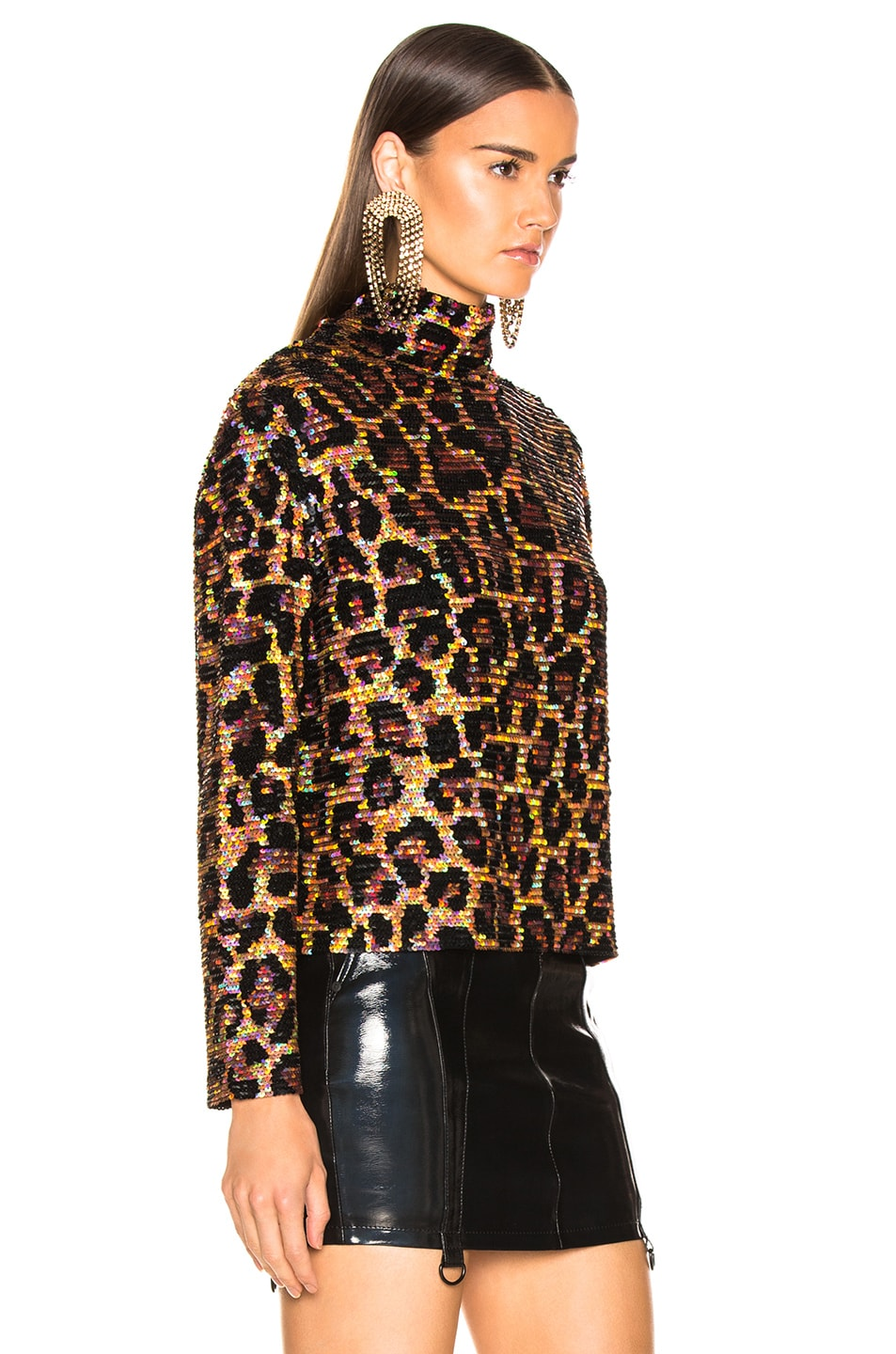 Image 2 of Ashish Sequin Top in Classic Leopard