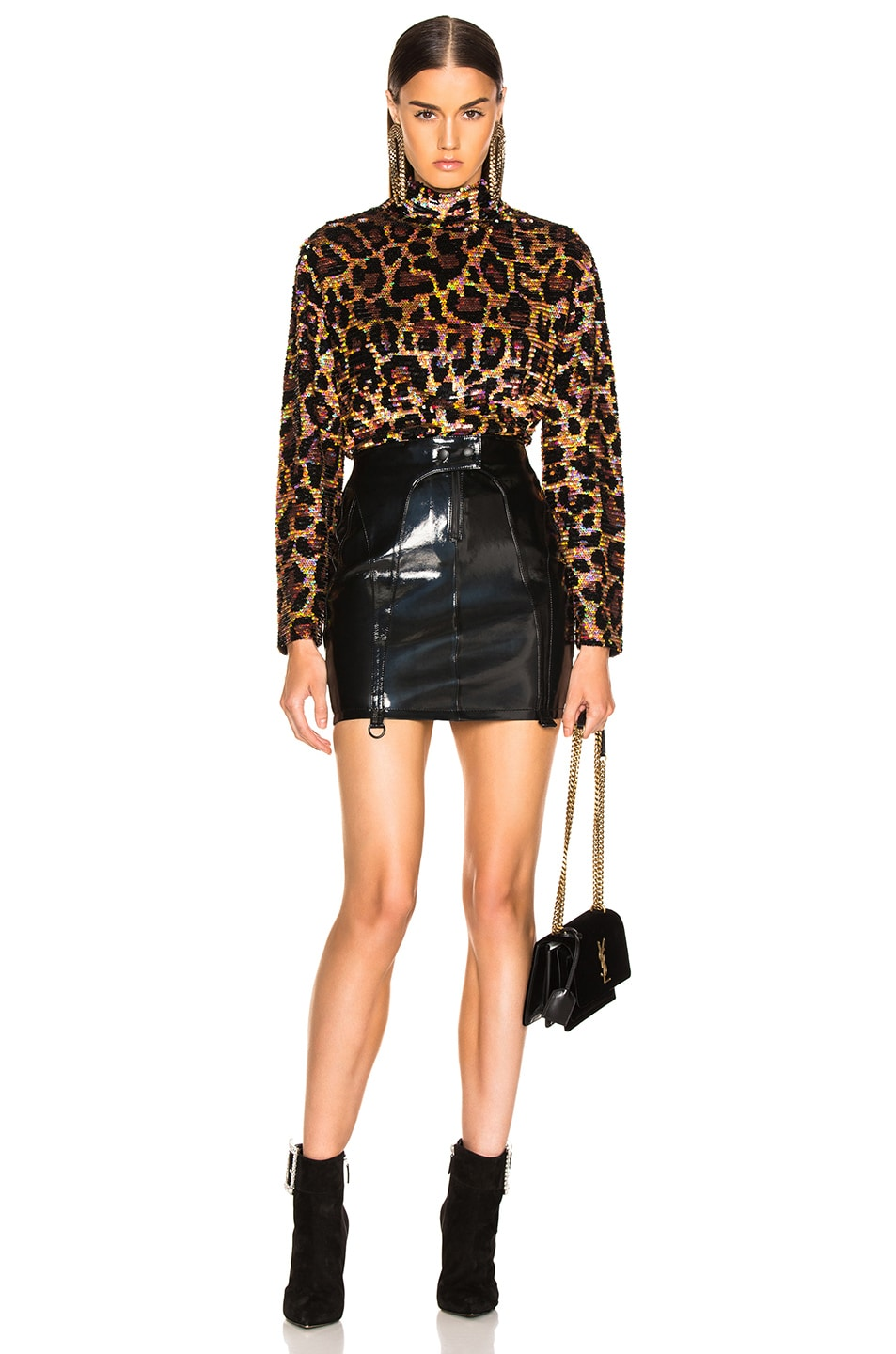Image 4 of Ashish Sequin Top in Classic Leopard