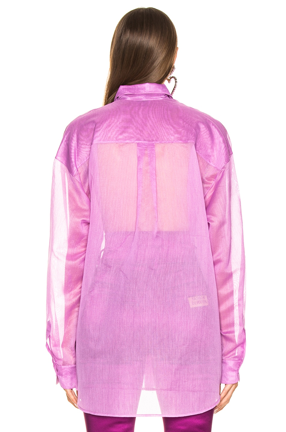 Image 3 of Ashish Classic Sequin Heart Shirt in Orchid & Red
