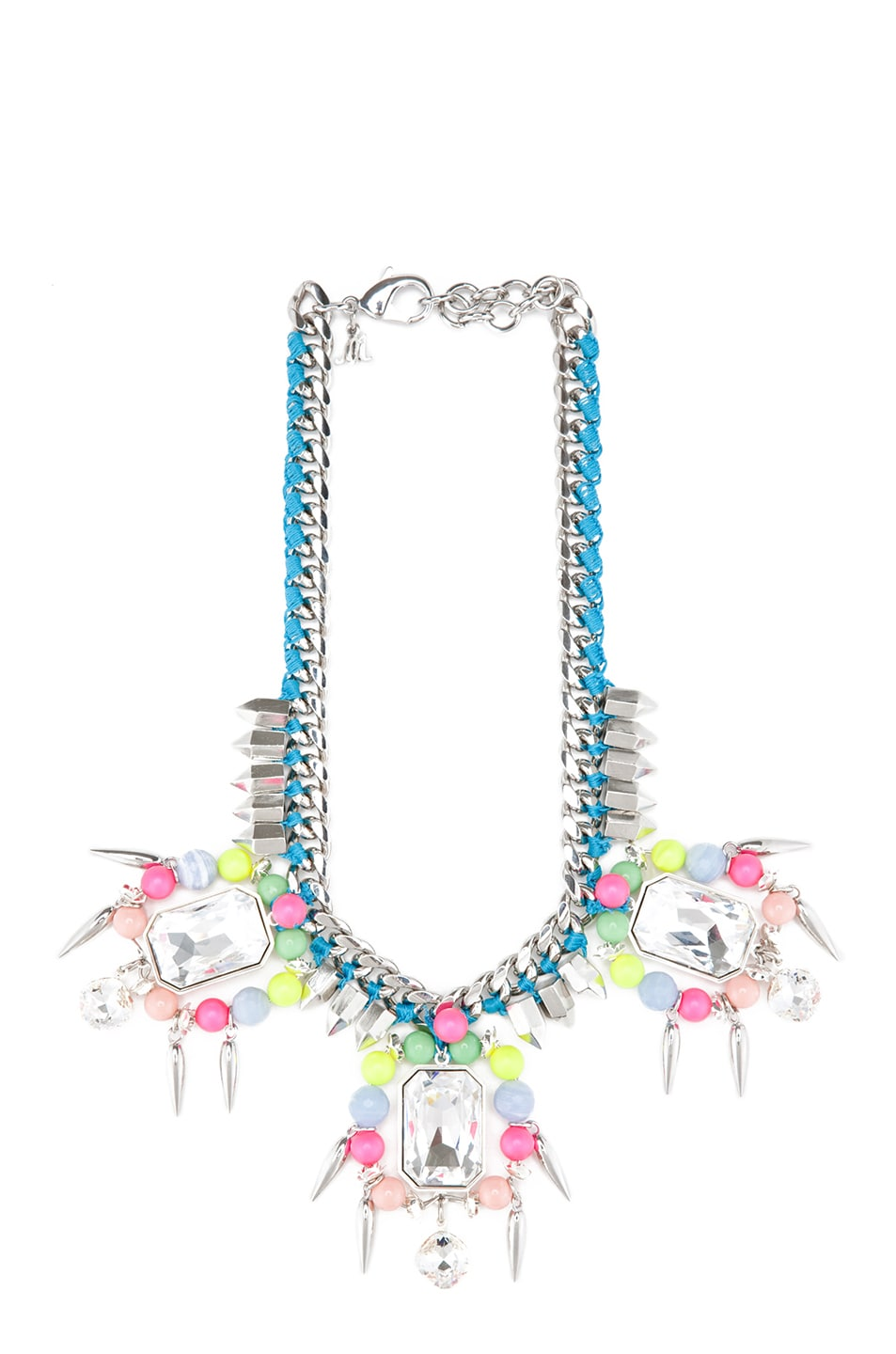 Image 1 of Assad Mounser Chroma Crypt Silver Plated Collar in Neon