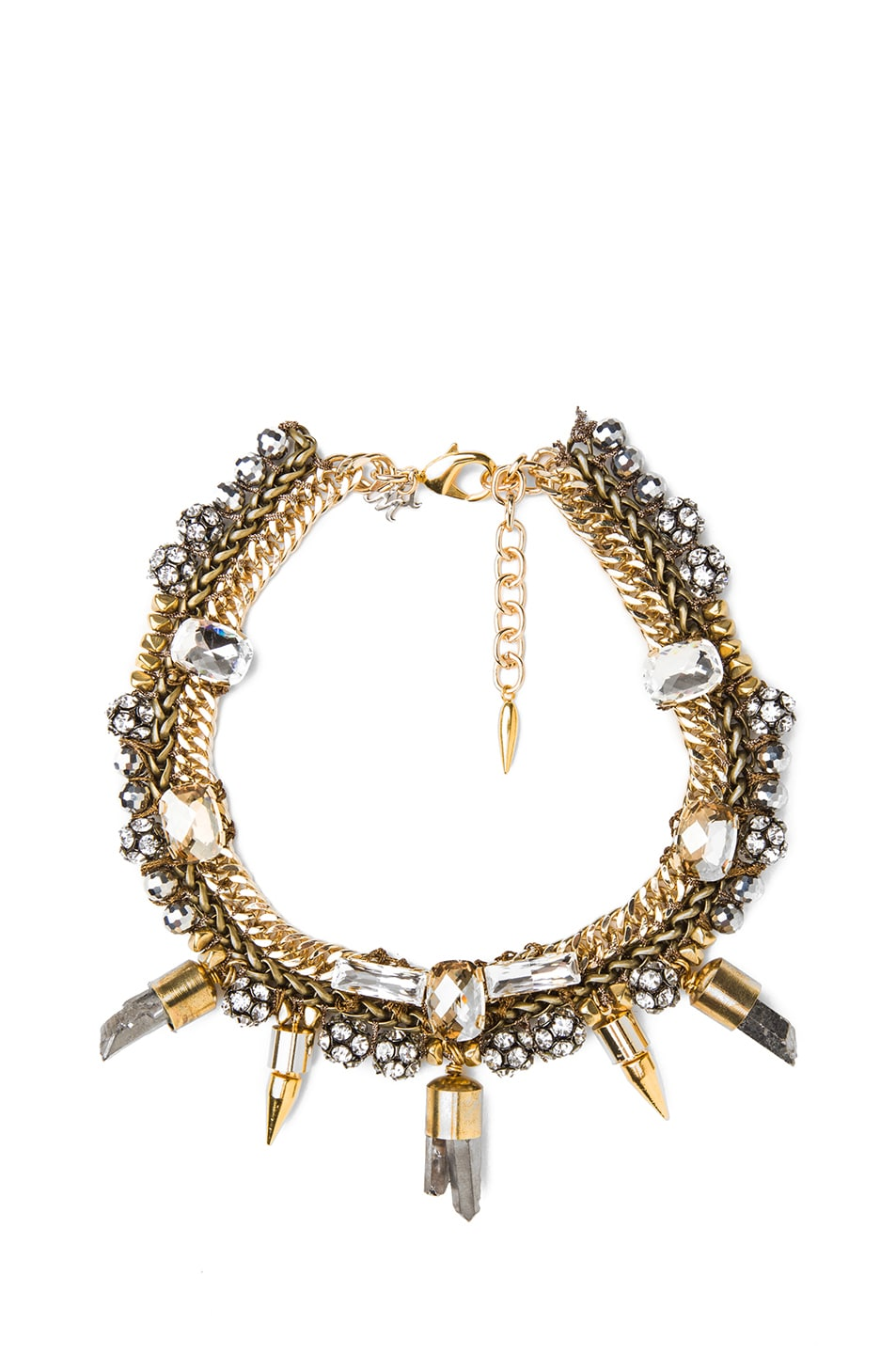 Image 1 of Assad Mounser Eno Plated Collar Necklace in Gold