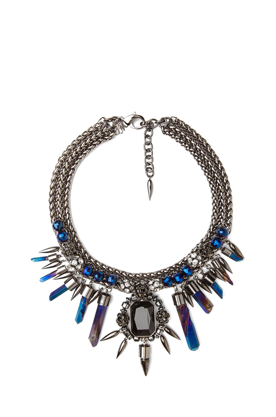 Image 1 of Assad Mounser Rex Collar Necklace in Navy