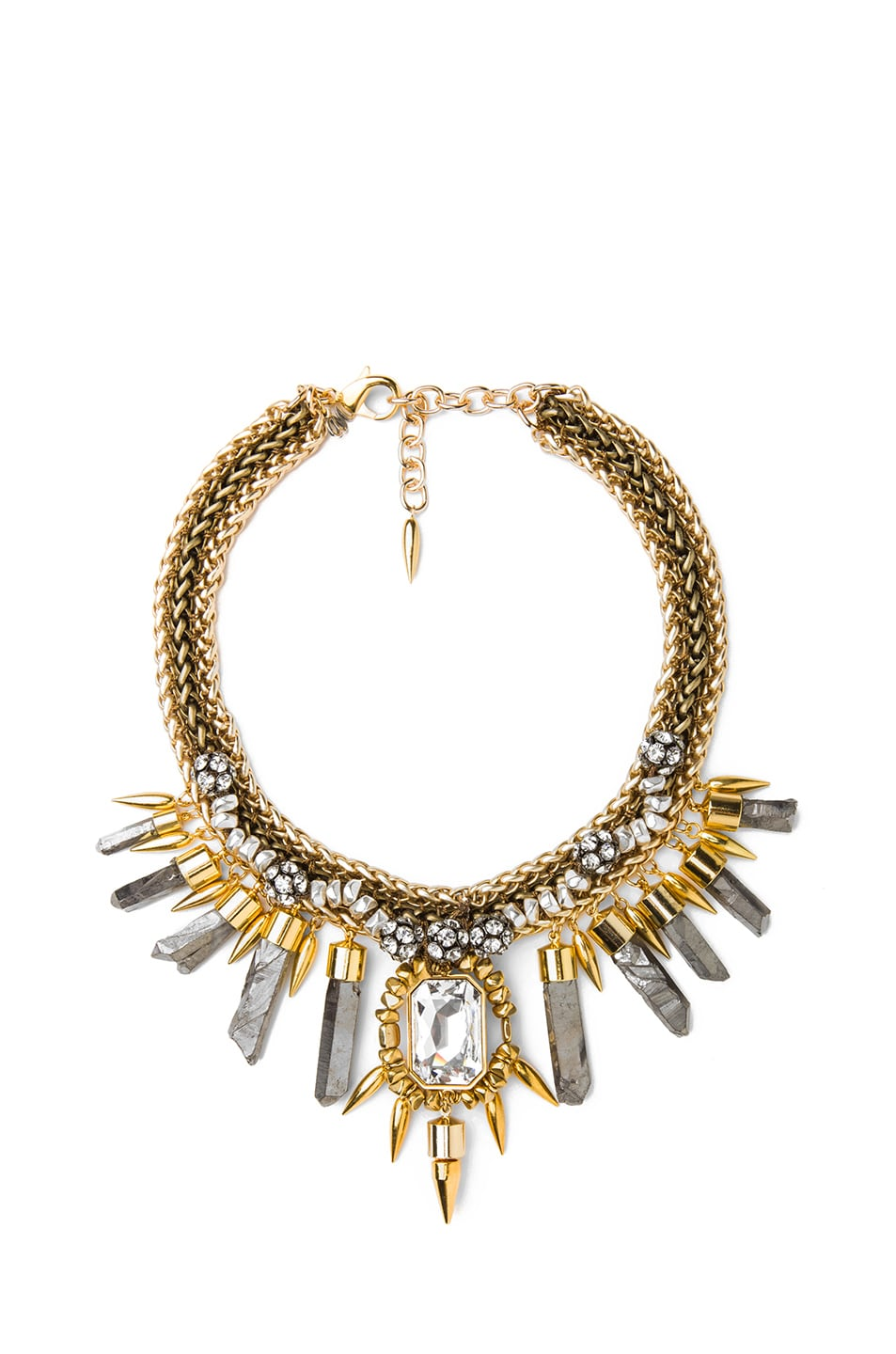 Image 1 of Assad Mounser Rex Plated Collar Necklace in Gold