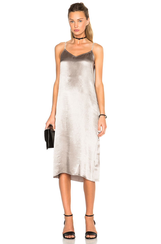 36d696dcad41 Atm Anthony Thomas Melillo Deep V Slip Dress In Silver Fwrd
