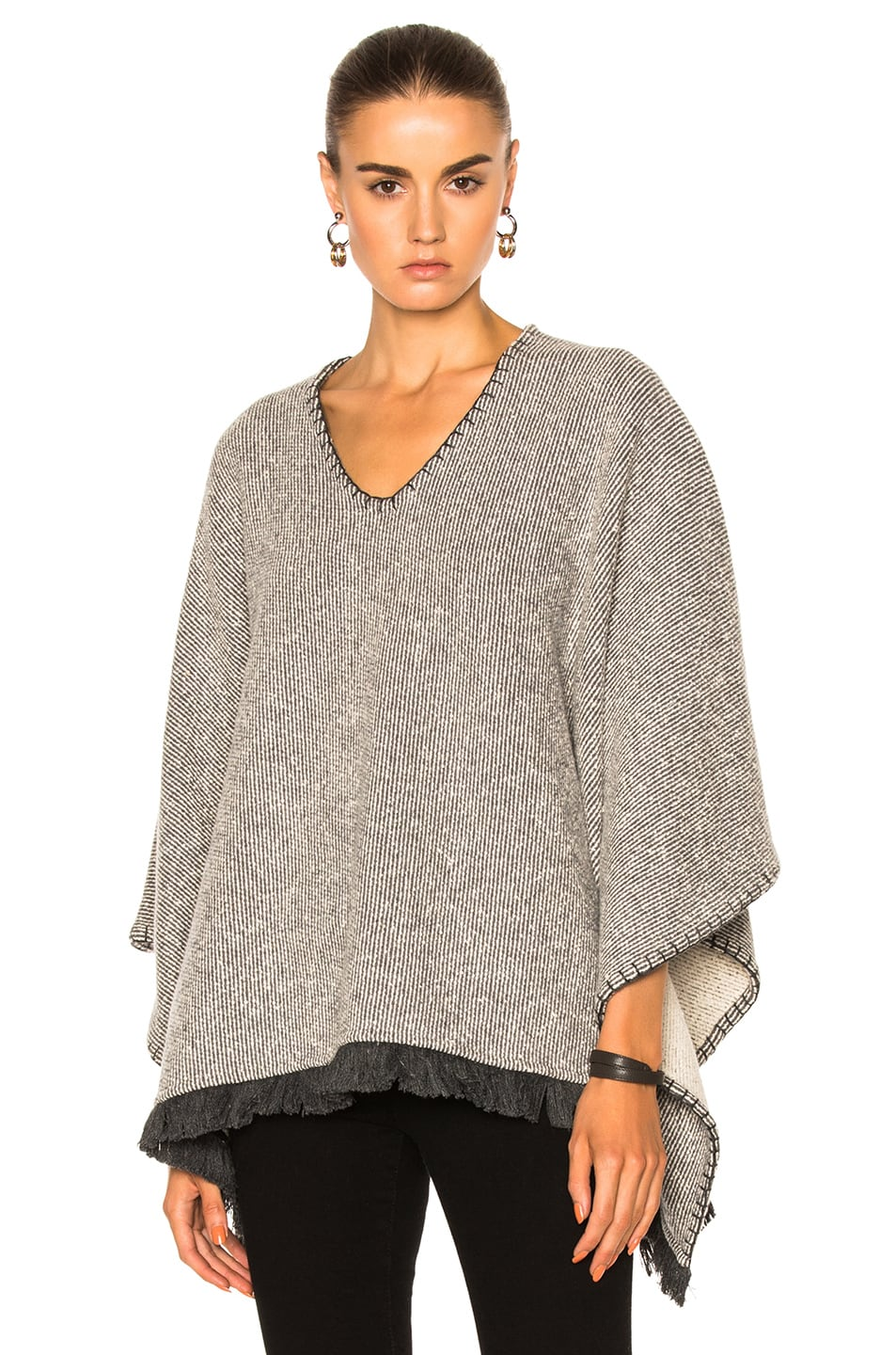 Image 1 of ATM Anthony Thomas Melillo Poncho in Gray Natural