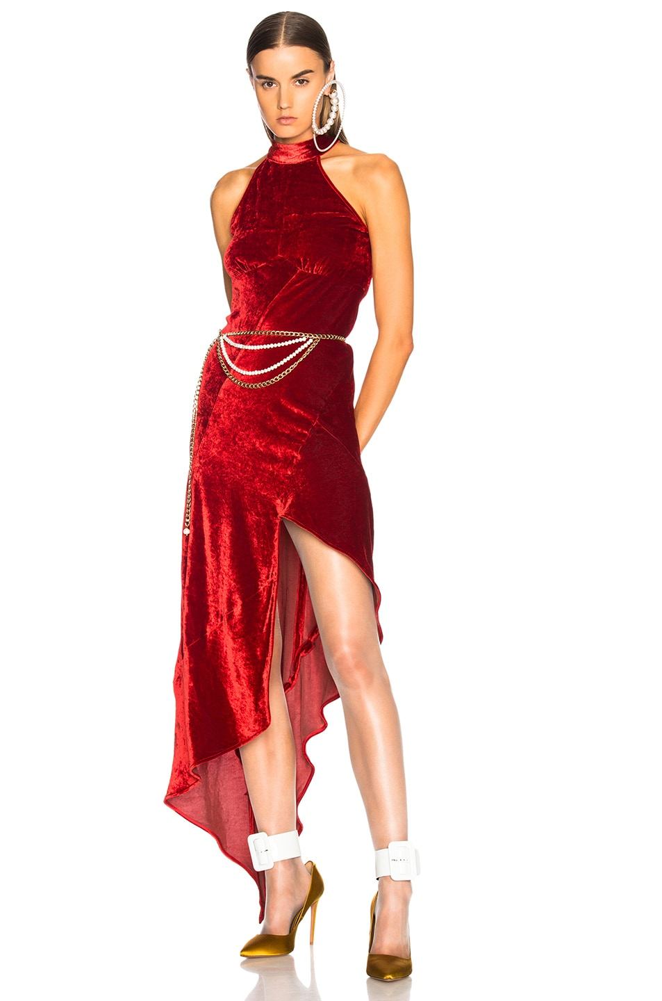 Image 1 of ATTICO Valice Tank Top Dress in Red