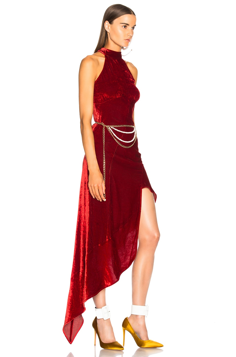 Image 3 of ATTICO Valice Tank Top Dress in Red