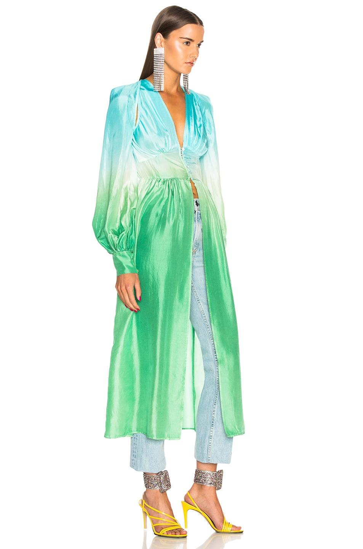 Robe Attico BlueTealamp; OmbreFwrd In Green Dress uZiPkOX