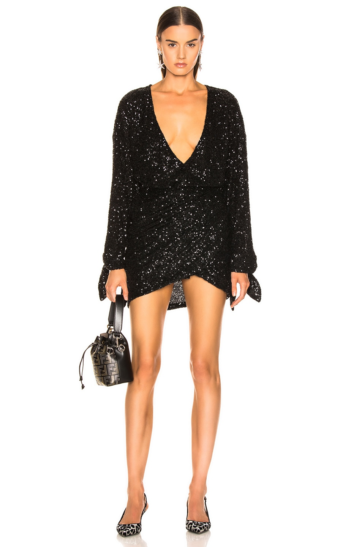 Image 1 of ATTICO Sequined Mini Dress in Black