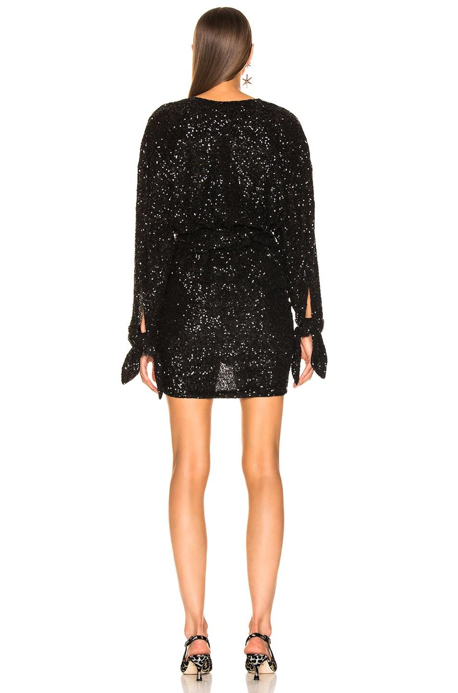 Image 3 of ATTICO Sequined Mini Dress in Black