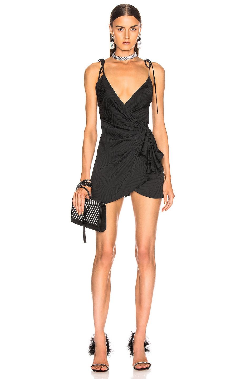 Image 1 of ATTICO Zebra Jacquard Mini Slip Dress in Black