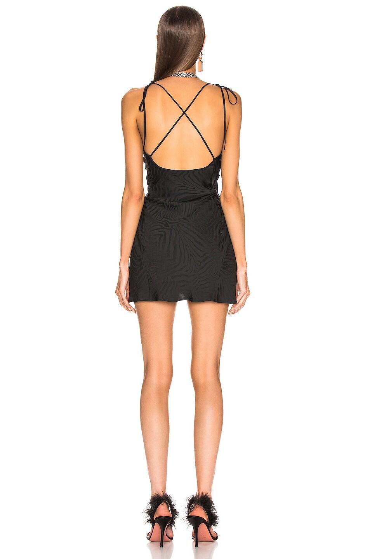 Image 3 of ATTICO Zebra Jacquard Mini Slip Dress in Black