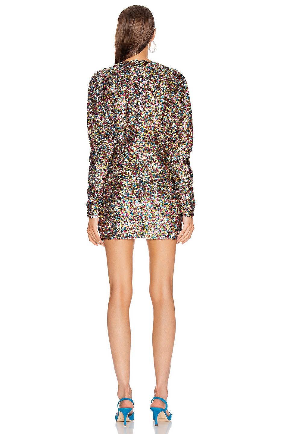 Image 3 of ATTICO Sequin Mini Dress in Multicolor