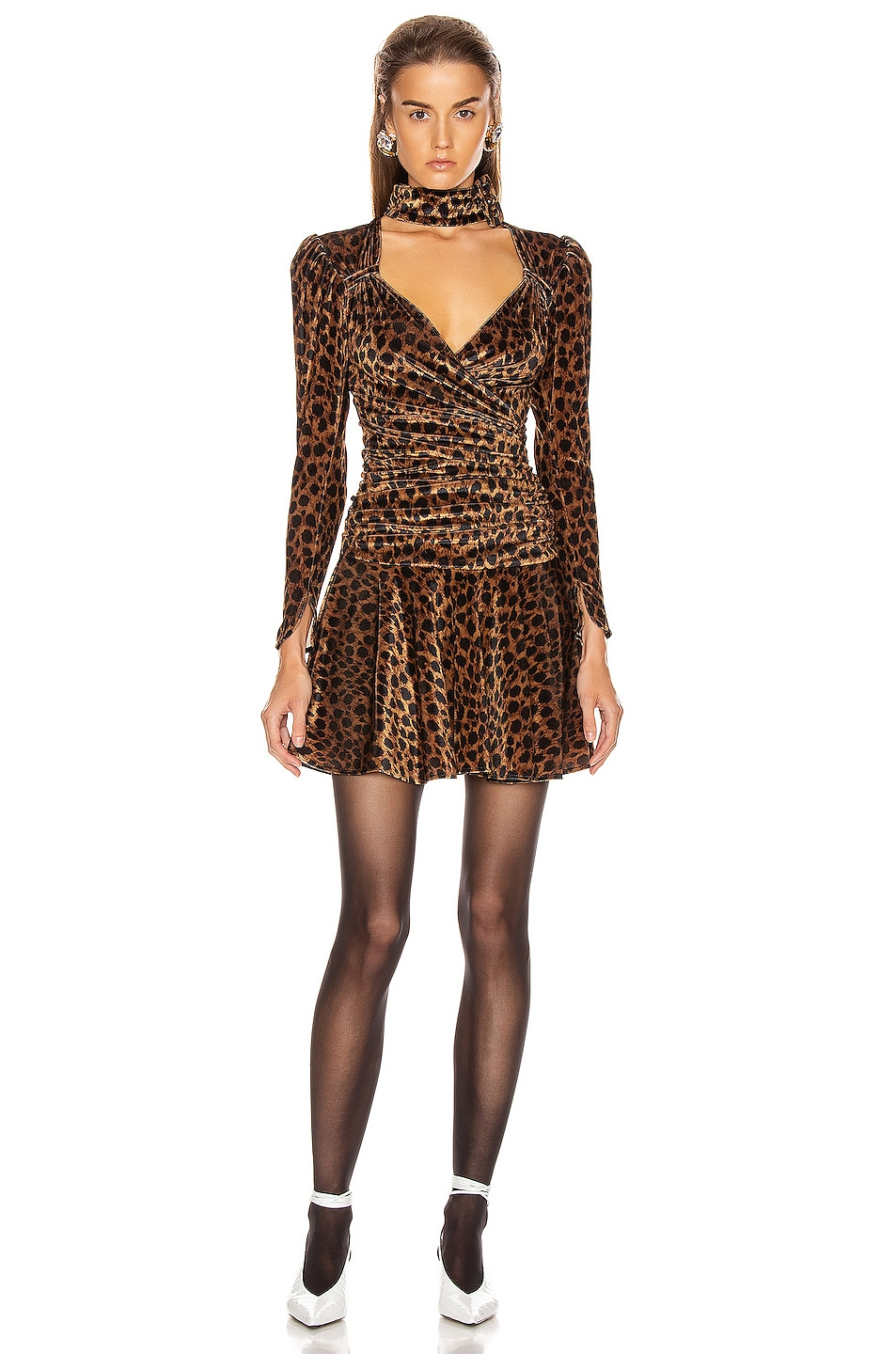Image 1 of ATTICO Leopard Mini Dress in Natural