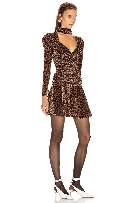 Image 2 of ATTICO Leopard Mini Dress in Natural