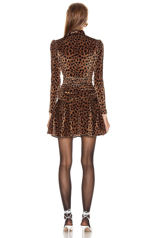 Image 3 of ATTICO Leopard Mini Dress in Natural