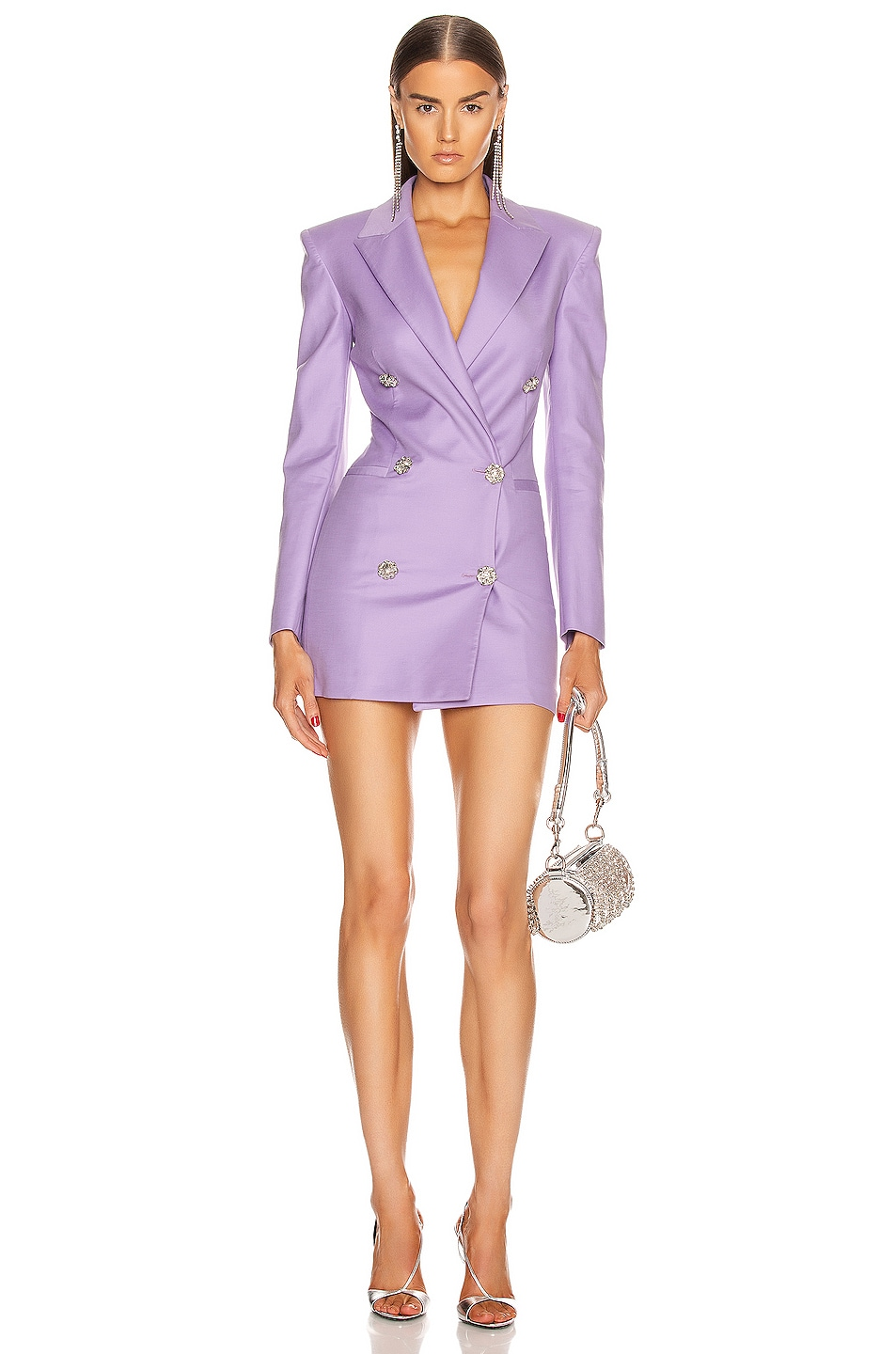 Image 1 of ATTICO Blazer Mini Dress in Lilac