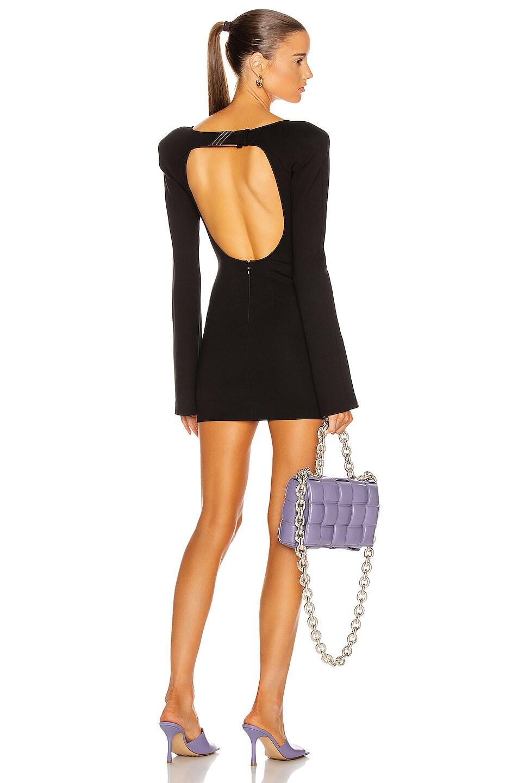 Image 1 of ATTICO Open Back Mini Dress in Black