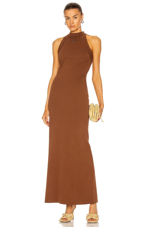 Image 1 of THE ATTICO Ema Maxi Dress in Rum