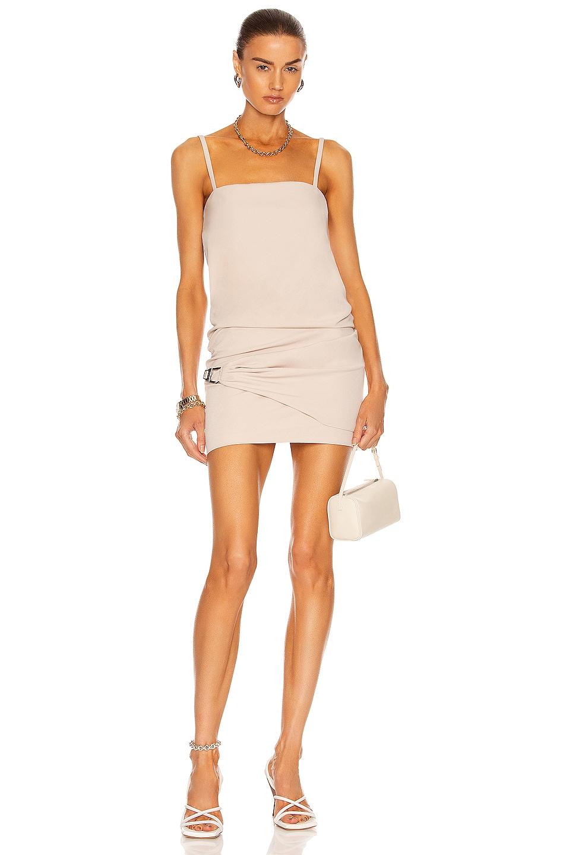 Image 1 of THE ATTICO Sleeveless Mini Dress in Mastic
