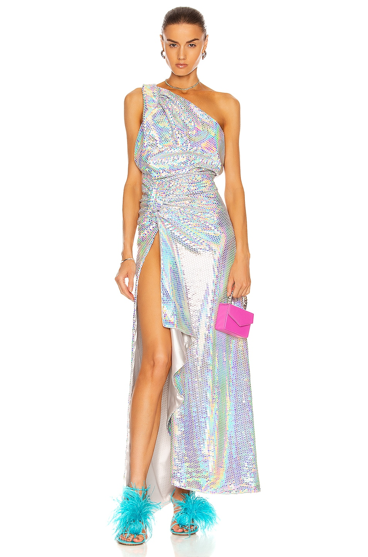 Image 1 of THE ATTICO Sleeveless Maxi Dress in Rainbow