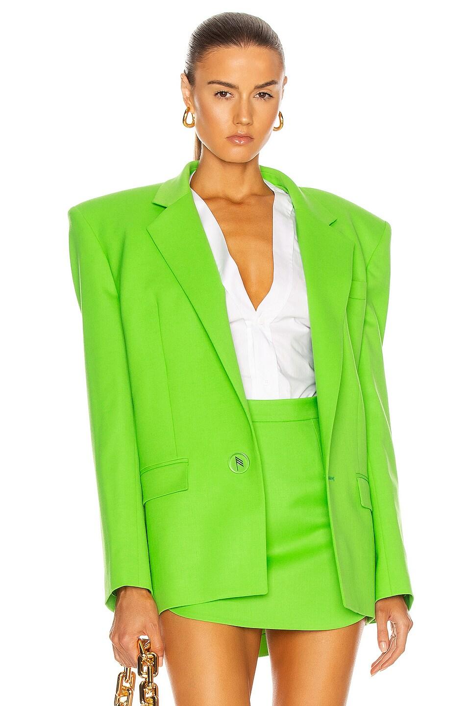 Image 1 of ATTICO Bold Shoulder Blazer in Green