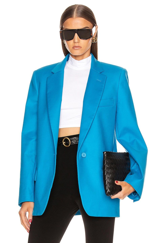Image 1 of ATTICO Blazer Jacket in Turquoise