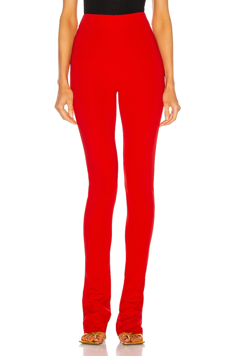 Image 1 of THE ATTICO Skinny Flare Pant in Red