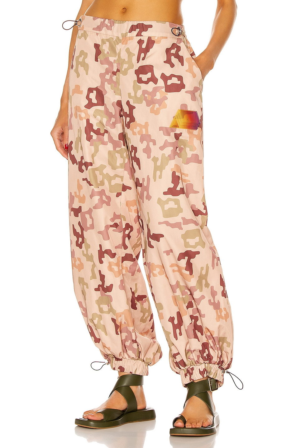Image 1 of THE ATTICO Elon Pant in Pink, Green & Brown Camouflage