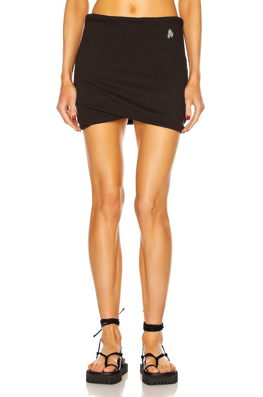 Image 1 of THE ATTICO Ezra Mini Skirt in Black