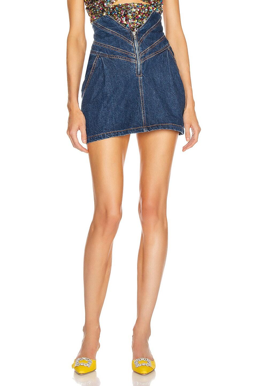 Image 1 of ATTICO Mini Skirt in Blue