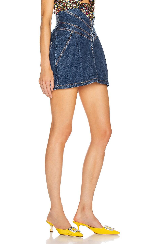 Image 2 of ATTICO Mini Skirt in Blue
