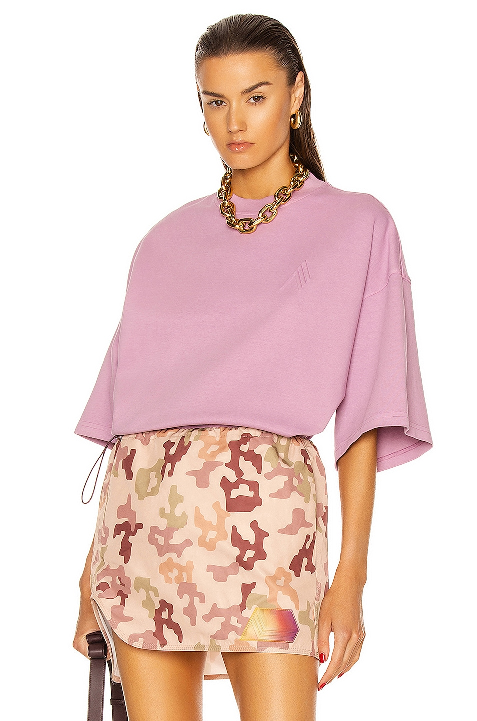 Image 1 of THE ATTICO Cara T-Shirt in Orchid Haze
