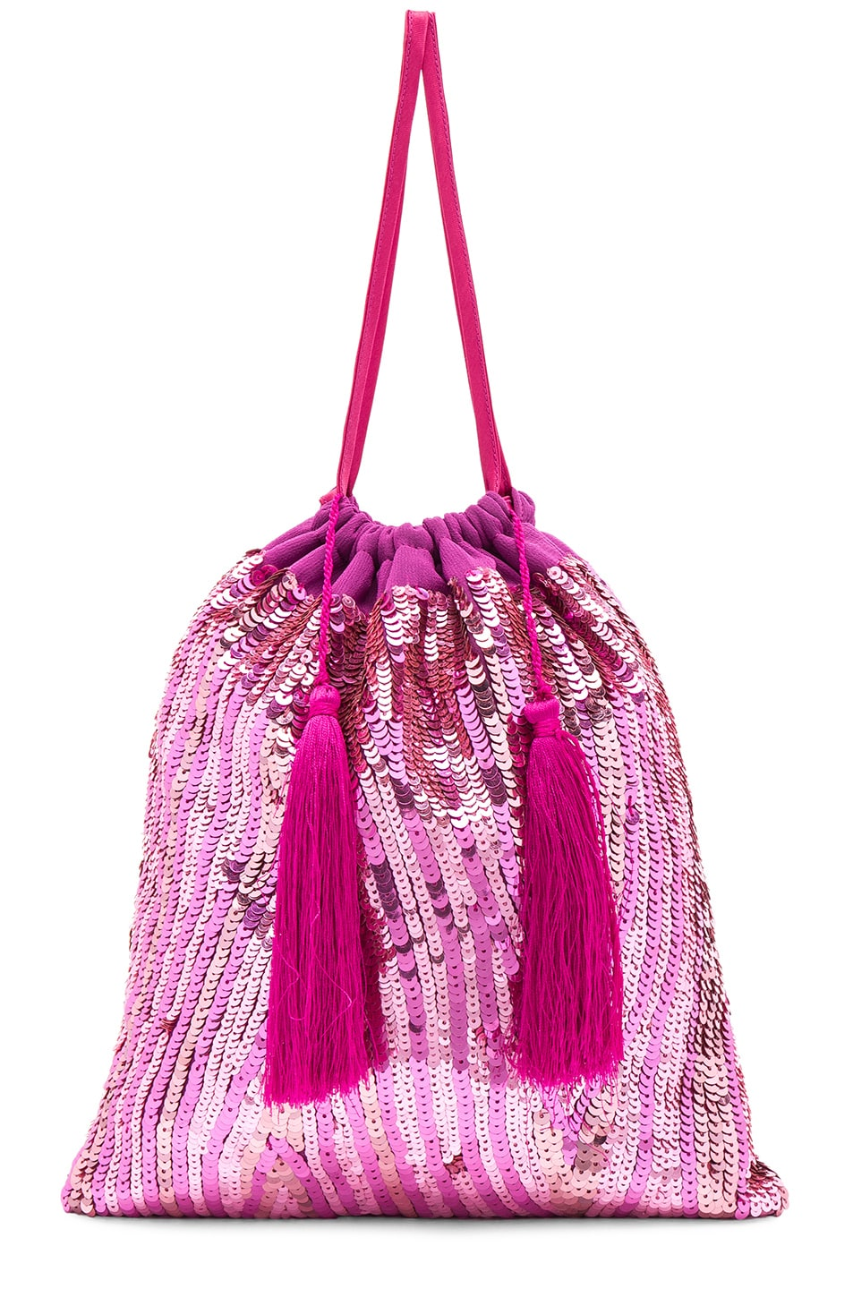 Image 1 of ATTICO Sequined Pouch in Pink