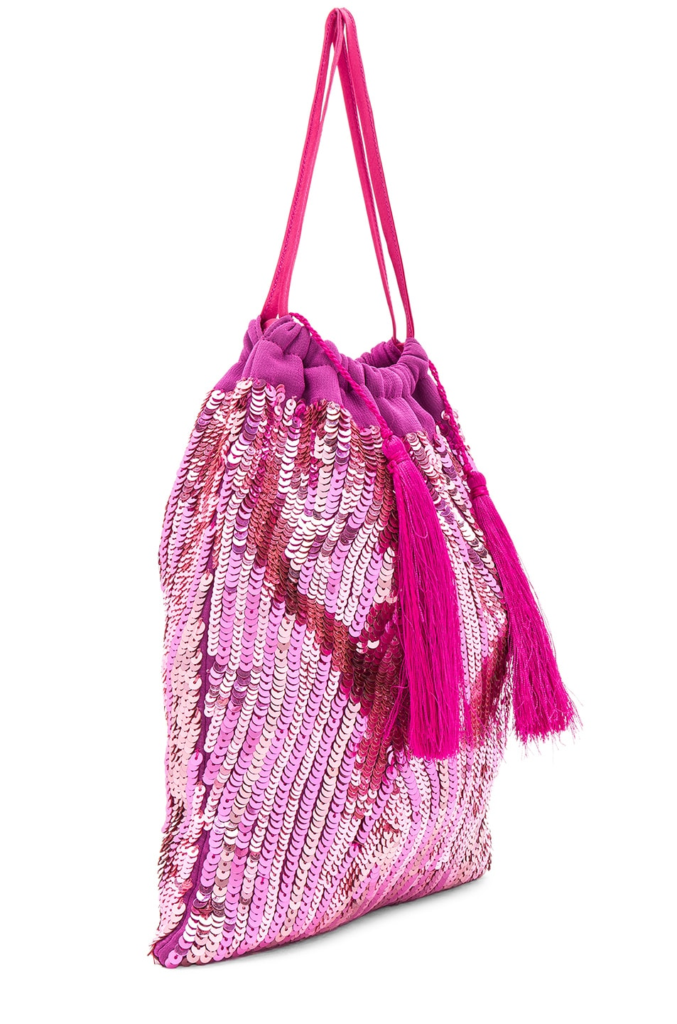 Image 4 of ATTICO Sequined Pouch in Pink