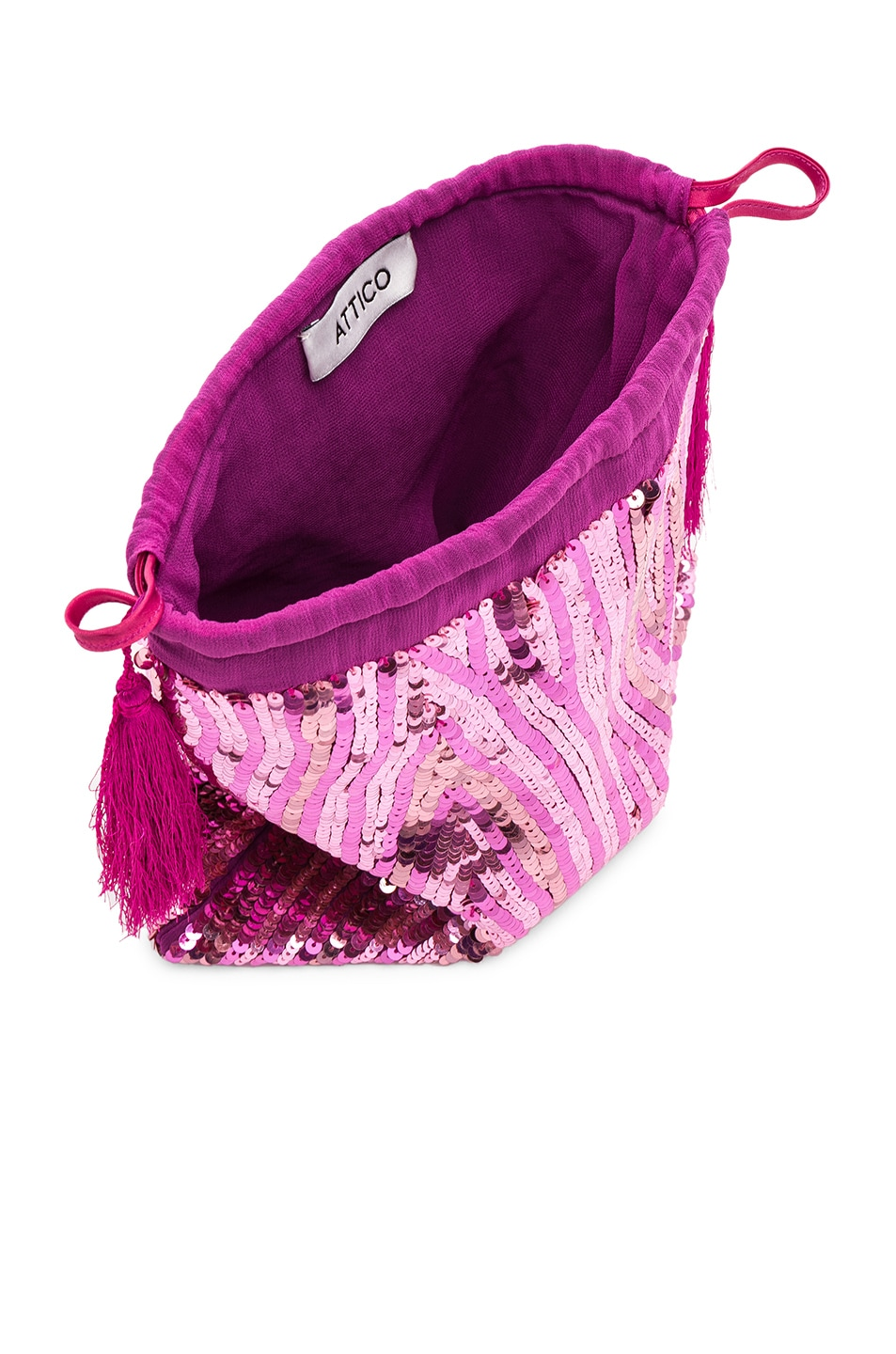 Image 5 of ATTICO Sequined Pouch in Pink
