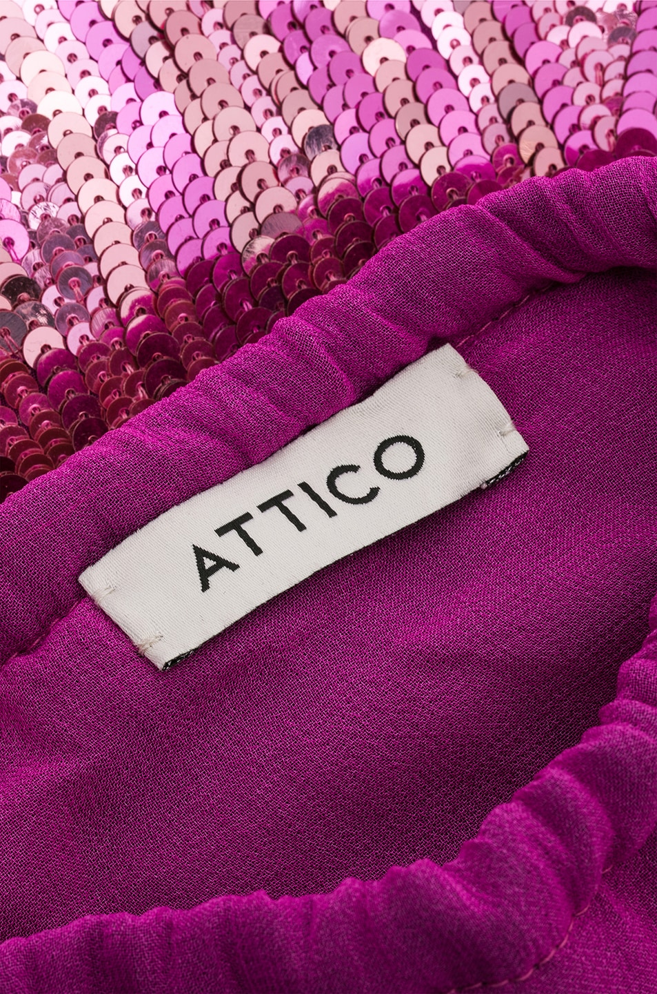 Image 6 of ATTICO Sequined Pouch in Pink
