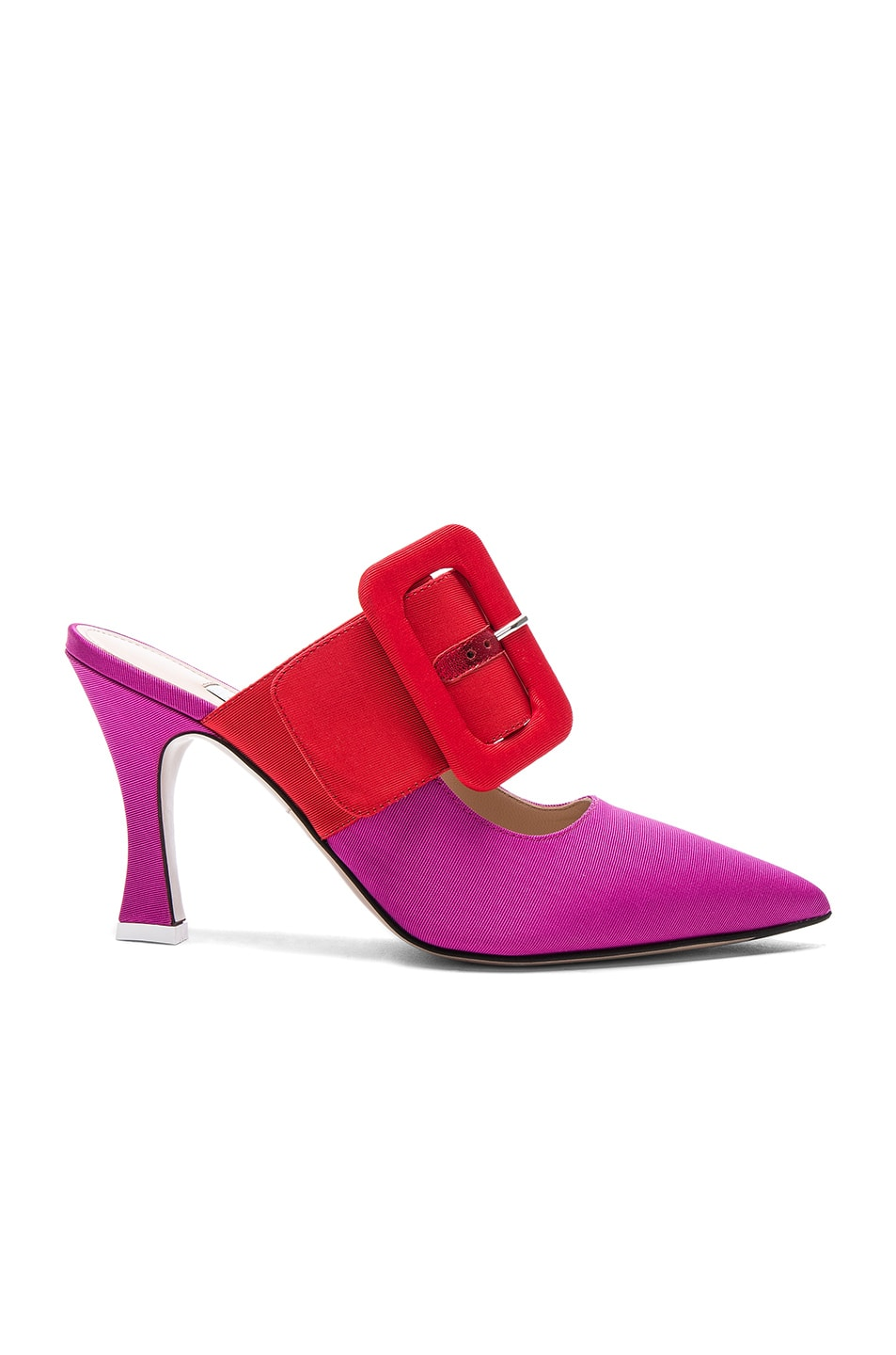 ATTICO Faille Chloe Mules in & Low Price Fee Shipping Sale Online Very Cheap Price jAMMT