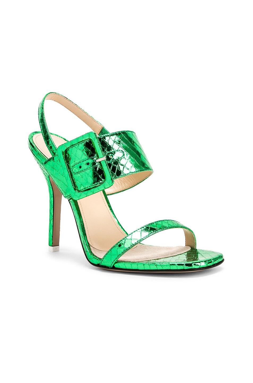 Image 2 of ATTICO Mariah Python Napa Heel in Emerald