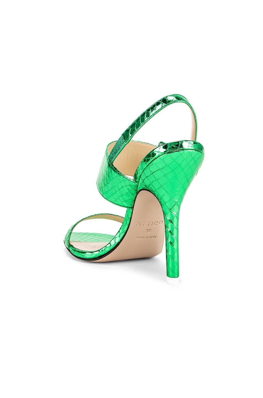 Image 3 of ATTICO Mariah Python Napa Heel in Emerald
