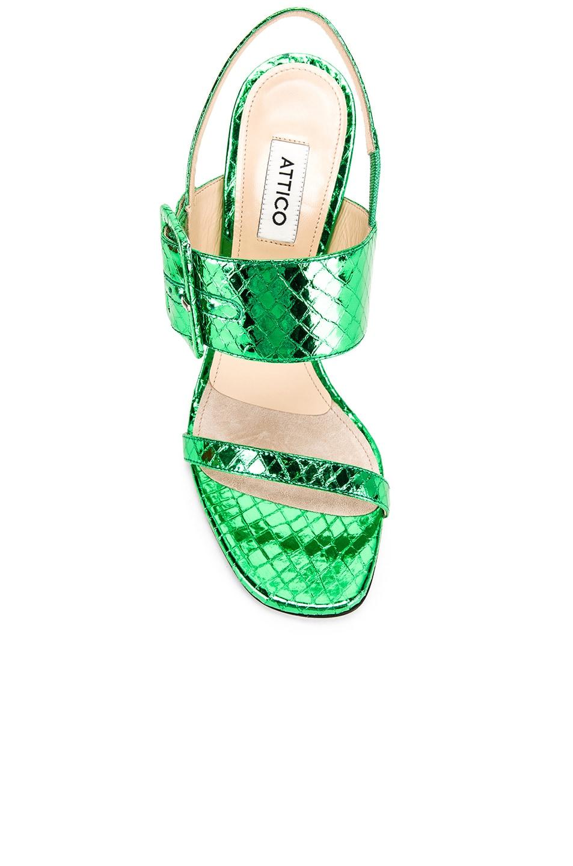 Image 4 of ATTICO Mariah Python Napa Heel in Emerald