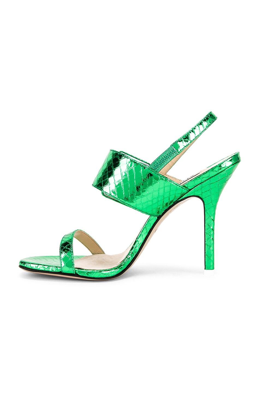 Image 5 of ATTICO Mariah Python Napa Heel in Emerald
