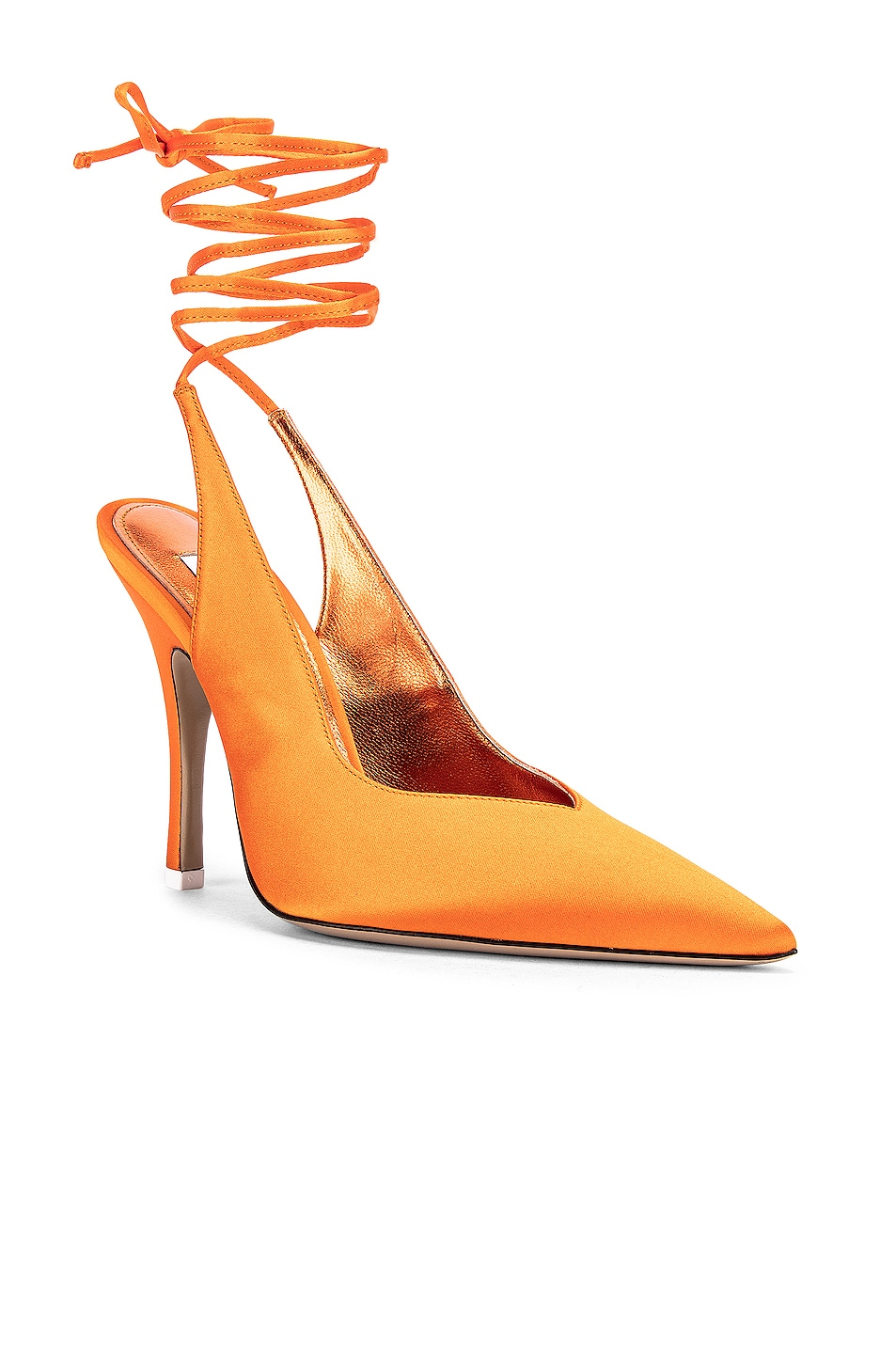 Image 2 of ATTICO High Heel Slingback in Orange